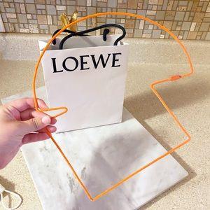 Auth. Loewe Orange Couture Felt Puzzle Necklace